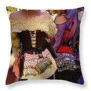 Colorful Wenches Throw Pillow