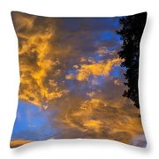 Colorful Western Sky At Sunrise Throw Pillow