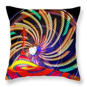 Colorful Wheel Of Lights Throw Pillow