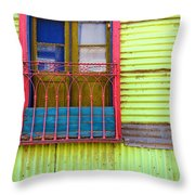 Colorful Window Throw Pillow