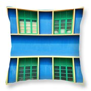 Colorful Windows Throw Pillow by Yew Kwang