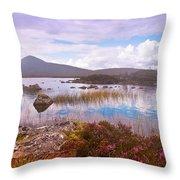 Colorful World Of Rannoch Moor. Scotland Throw Pillow