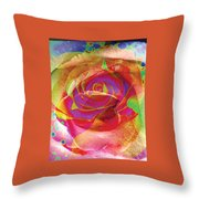 Colorfull Rose Throw Pillow