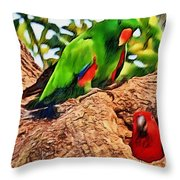 Colorfully Bright Throw Pillow