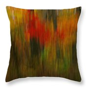 Coloring The Woods Throw Pillow
