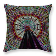 Colorized Dome Throw Pillow