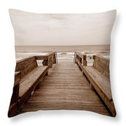 Colorless Seascape Throw Pillow