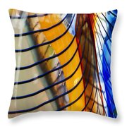Colors And Lines Throw Pillow