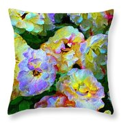 Colors And Roses Throw Pillow