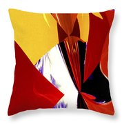 Colors And Shapes Throw Pillow