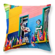 Colors And Statues Throw Pillow