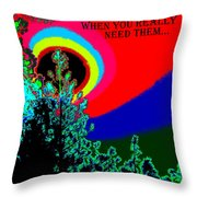 Colors Are There Throw Pillow
