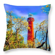 Colors At Barnegat Light Throw Pillow