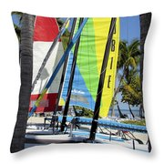 Key West Sail Colors Throw Pillow