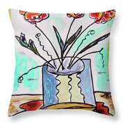 Colors Combine Throw Pillow