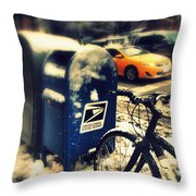 Colors In Snow Throw Pillow