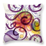 Colors In Space Throw Pillow