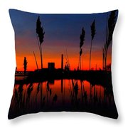 Colors In The Sky Throw Pillow