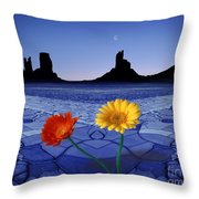 Colors In The Valley Throw Pillow