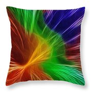 Colors Lines And Textures Throw Pillow