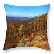 Colors Of Autumn In Shenandoah National Park Throw Pillow