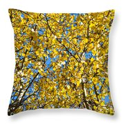 Colors Of Autumn - Yellow - Featured 3 Throw Pillow
