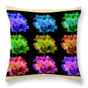 Colors Of Cactuses Throw Pillow