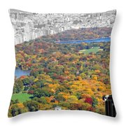 Colors Of Central Park Throw Pillow