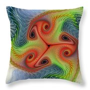 Colors Of Delight Throw Pillow