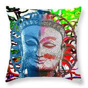 Colors Of Divinity Throw Pillow by Karunita Kapoor
