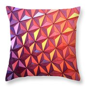 Colors Of Epcot Throw Pillow