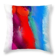 Colors Of Erotic 2 Throw Pillow