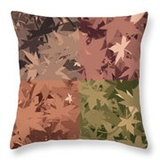 Colors Of Fall Leaves Abstract Throw Pillow