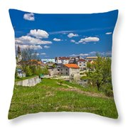 Colors Of Gospic Capital Of Lika Throw Pillow