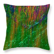 Colors Of Grass Throw Pillow