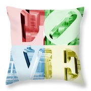 Colors Of Love Philadelphia Pa Throw Pillow
