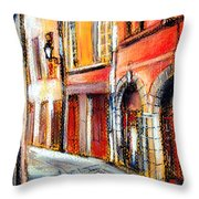 Colors Of Lyon 3 Throw Pillow