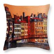 Colors Of Lyon I Throw Pillow