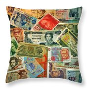 Colors Of Money Throw Pillow