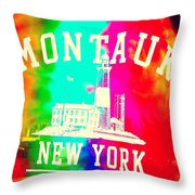 Colors Of Montauk Throw Pillow