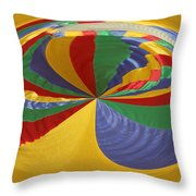 Colors Of Motion Throw Pillow