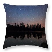 Colors Of Night Throw Pillow