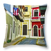 Colors Of Old San Juan Puerto Rico Throw Pillow