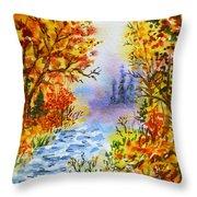 Colors Of Russia Autumn  Throw Pillow by Irina Sztukowski