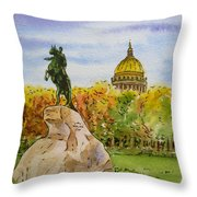 Colors Of Russia Monuments Of Saint Petersburg Throw Pillow