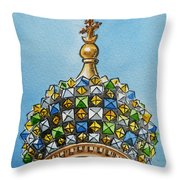 Colors Of Russia St Petersburg Cathedral IIi Throw Pillow by Irina Sztukowski