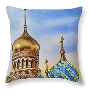 Colors Of Russia St Petersburg Cathedral Iv Throw Pillow by Irina Sztukowski