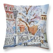 Colors Of Russia Winter In Saint Petersburg Throw Pillow by Irina Sztukowski