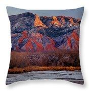 214501-colors Of Sandia Crest  Throw Pillow