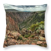 Colors Of The Black Canyon Throw Pillow